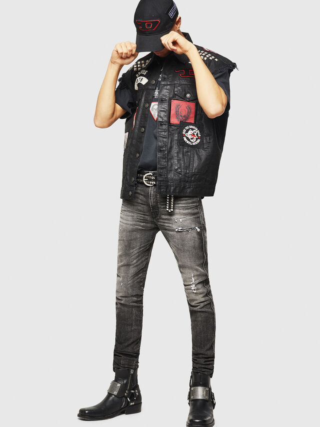 Diesel - PS-D-VINNY, Black - Denim Jackets - Image 6