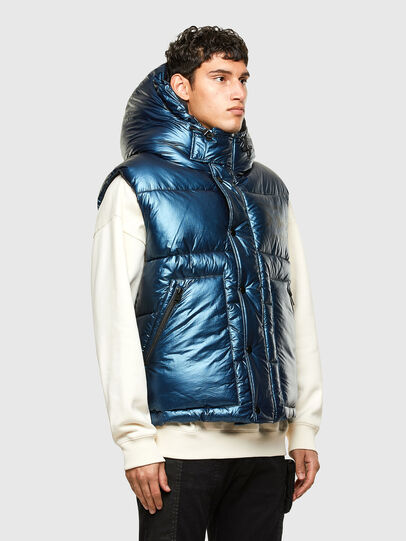 Diesel - W-SELLERS, Blue - Winter Jackets - Image 7