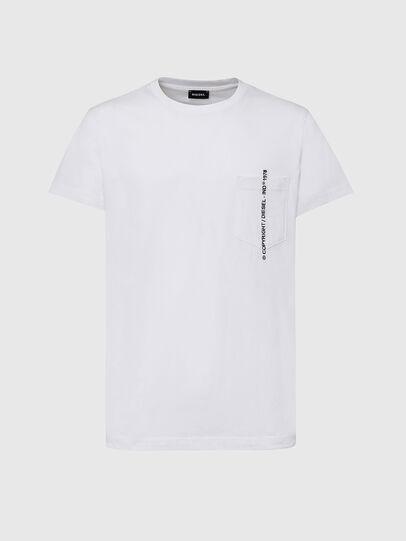 Diesel - T-RUBIN-POCKET-J1, White - T-Shirts - Image 1