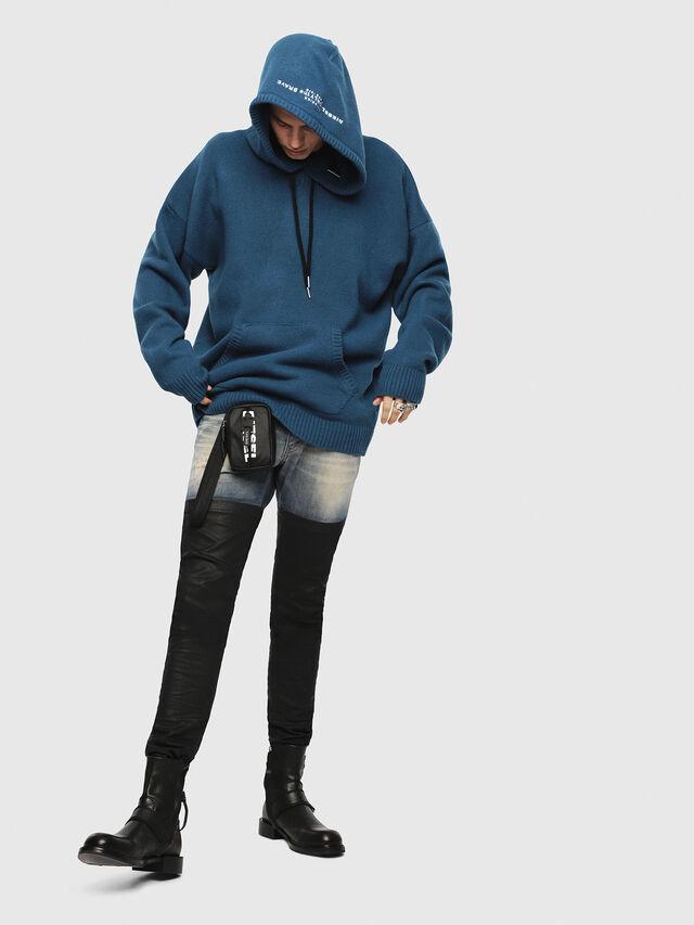 Diesel - K-NONAME, Dark Blue - Knitwear - Image 3