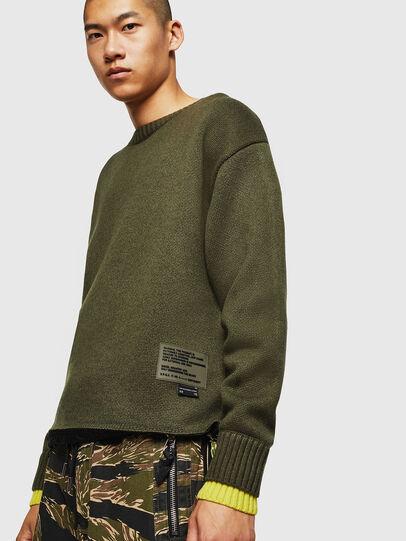 Diesel - K-PILOT, Military Green - Knitwear - Image 1