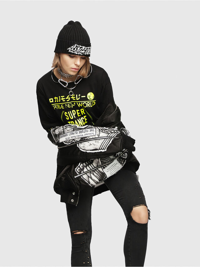 Diesel - T-JACKY-H, Black/Yellow - T-Shirts - Image 4