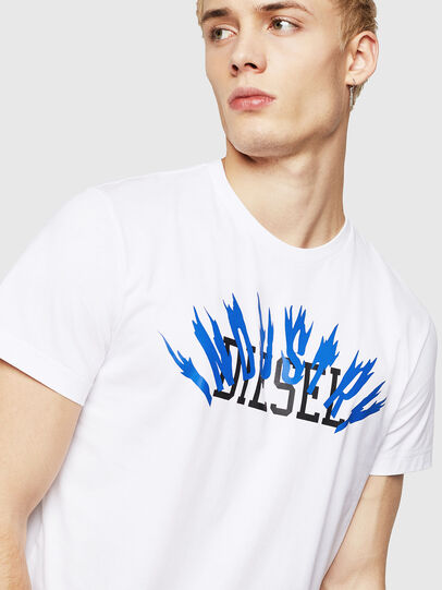Diesel - T-DIEGO-A10, White - T-Shirts - Image 3