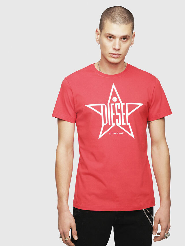 Diesel - T-DIEGO-YH, Red - T-Shirts - Image 1
