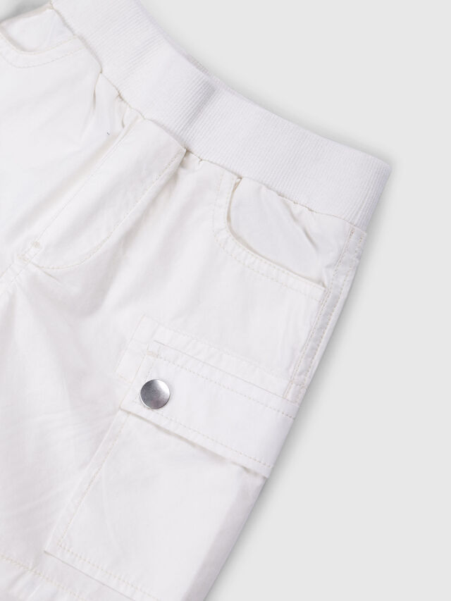 Diesel - PECCIB, White - Shorts - Image 3