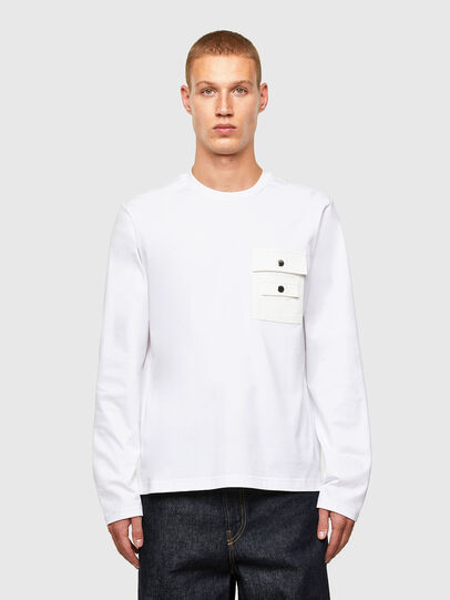 Diesel - T-TASK-LS, White - T-Shirts - Image 1
