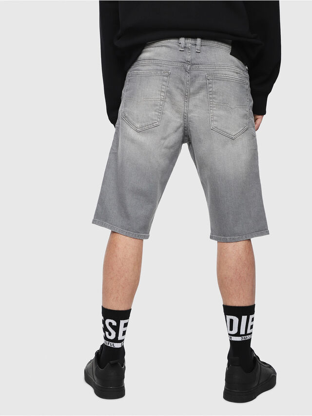 Diesel THOSHORT, Grey Jeans - Shorts - Image 2