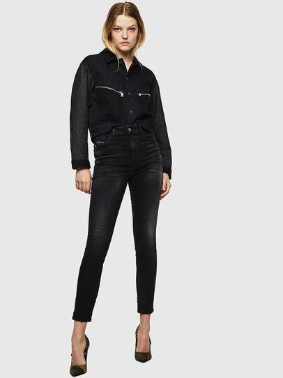 Diesel - Babhila High 0092B, Black/Dark grey - Jeans - Image 6
