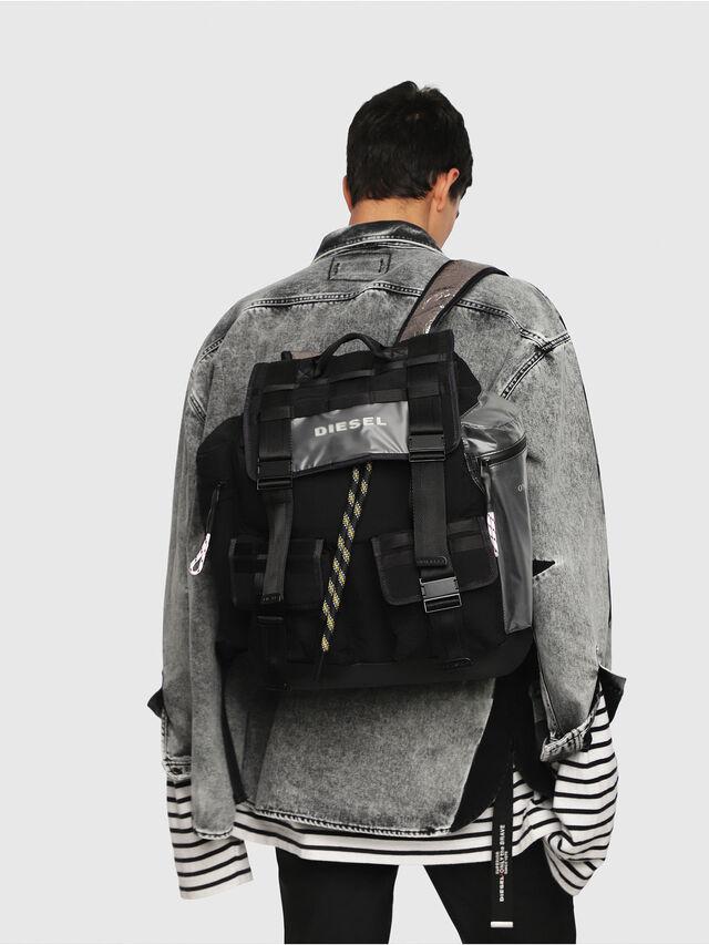 Diesel - M-CAGE BACK, Black/Silver - Backpacks - Image 5