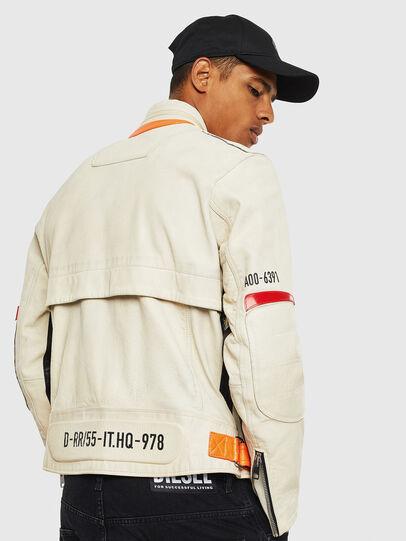 Diesel - L-DIXON, White - Leather jackets - Image 2