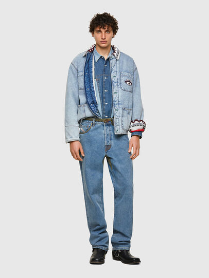 Diesel - DxD-SHIRT, Medium blue - Denim Shirts - Image 5