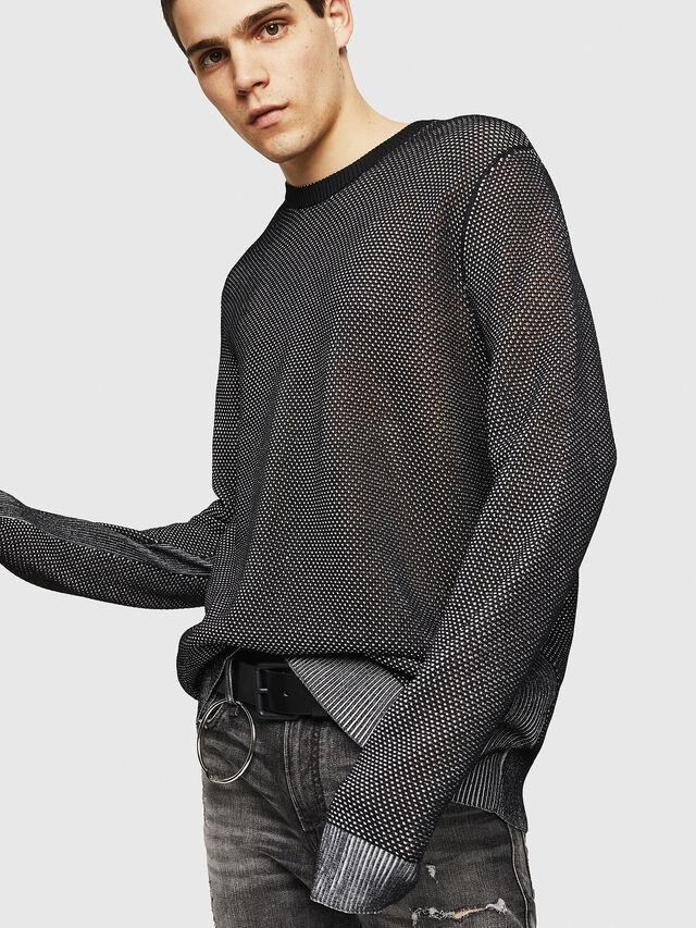 Diesel - K-NEST, Black - Knitwear - Image 4