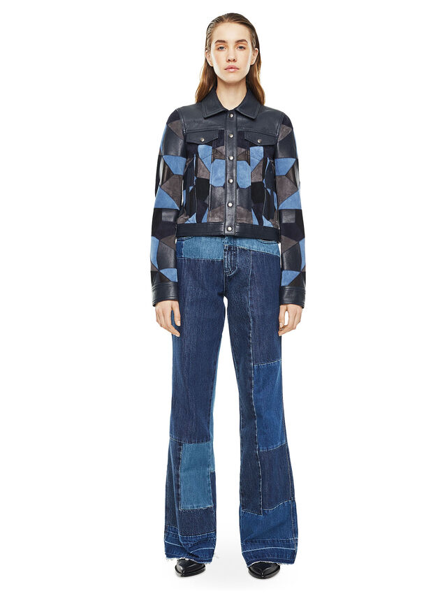 Diesel - LATCHY, Blue - Leather jackets - Image 5