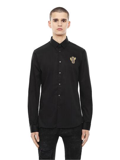 Diesel - SIRRIVE-CACTUS, Black - Shirts - Image 1