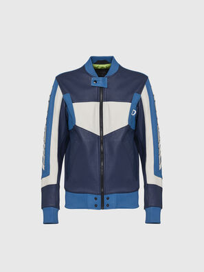 L-MAY, Blue/White - Leather jackets