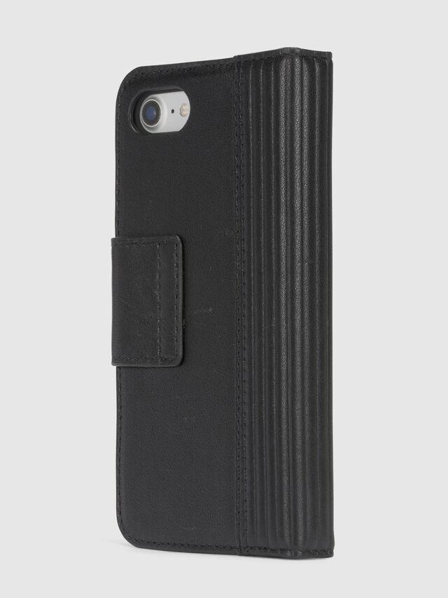 Diesel - BLACK LINED LEATHER IPHONE 8/7 FOLIO, Black - Flip covers - Image 5