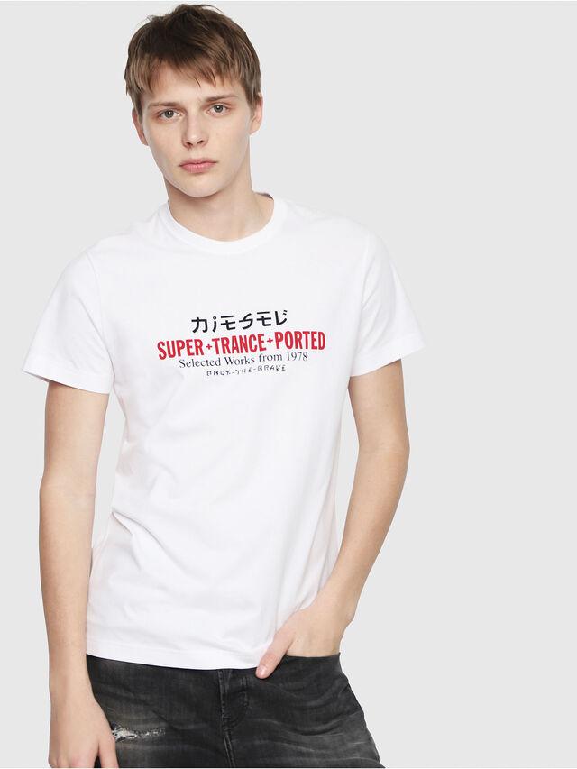 Diesel - T-DIEGO-Y1, White - T-Shirts - Image 1