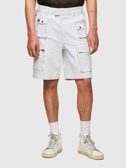 Diesel - D-CYAN-S-SP1, White - Shorts - Image 1