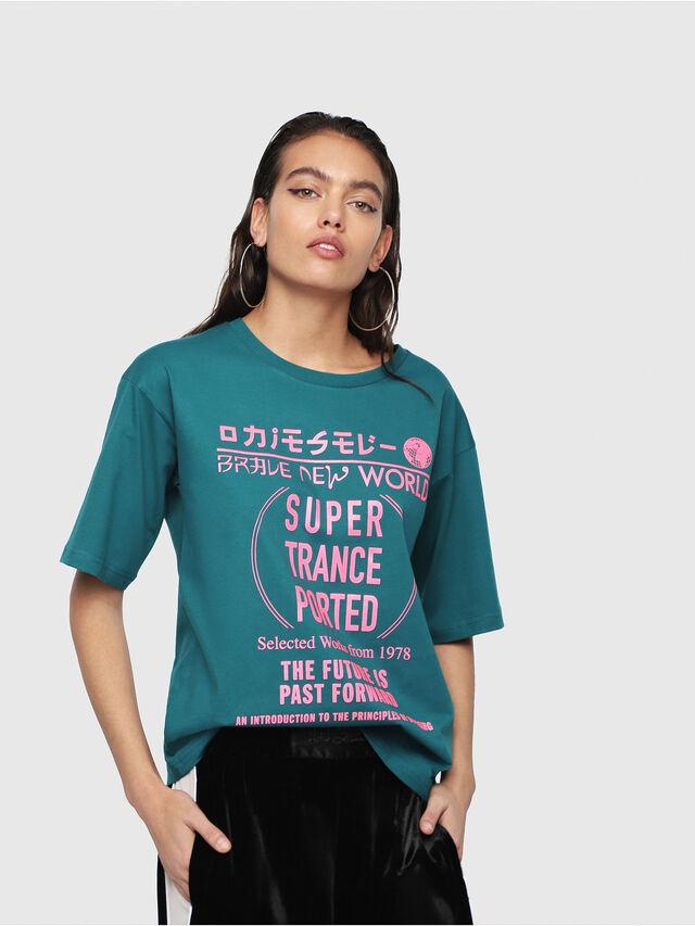 Diesel - T-JACKY-H, Dark Green - T-Shirts - Image 1