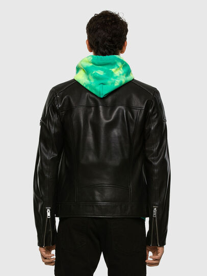 Diesel - L-CODY, Black - Leather jackets - Image 7