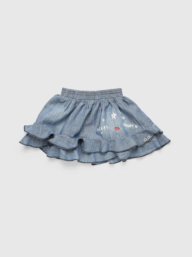 Diesel - GIRAB, Blue Jeans - Skirts - Image 1