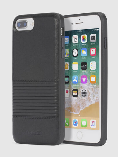 Diesel - BLACK LINED LEATHER IPHONE 8/7/6s/6 CASE,  - Cases - Image 1