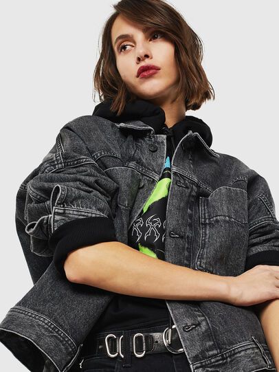 Diesel - DE-JALA, Black/Dark grey - Denim Jackets - Image 4