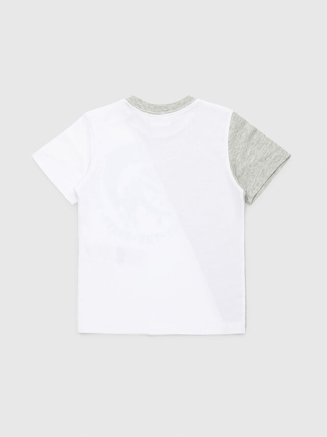 Diesel - TICAB, White/Grey - T-shirts and Tops - Image 2