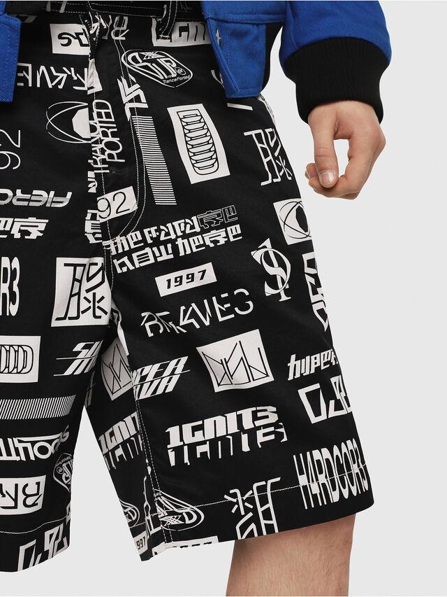 Diesel - P-FRANK-DNM-SHORT-P, Black/White - Shorts - Image 3