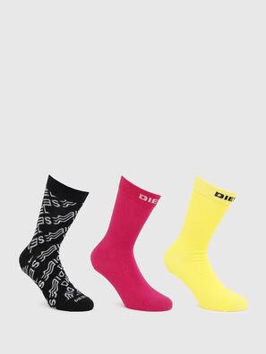 SKM-HERMINE-THREEPAC, Pink/Yellow - Socks