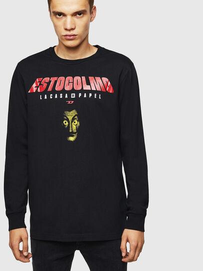 Diesel - LCP-T-JUST-LS-ESTOCO, Black - T-Shirts - Image 1