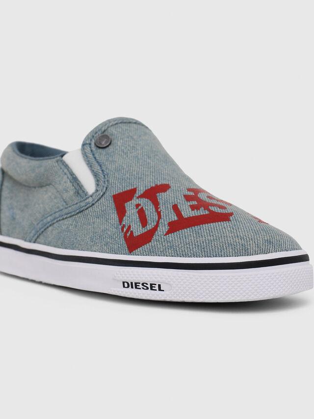 Diesel - SLIP ON 21 DENIM CH, Blue Jeans - Footwear - Image 4