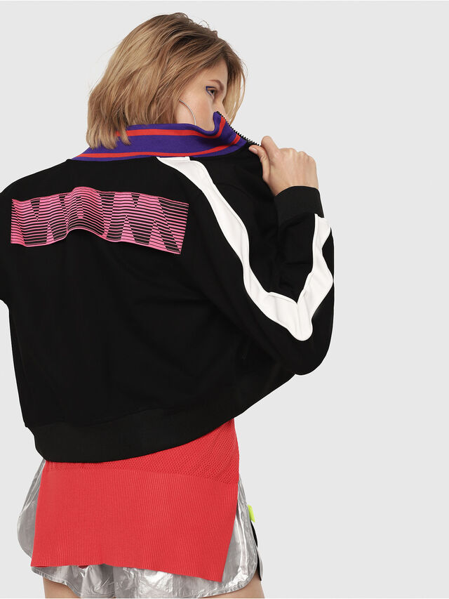 Diesel - F-LIDIUS-B, Black/White - Sweaters - Image 2