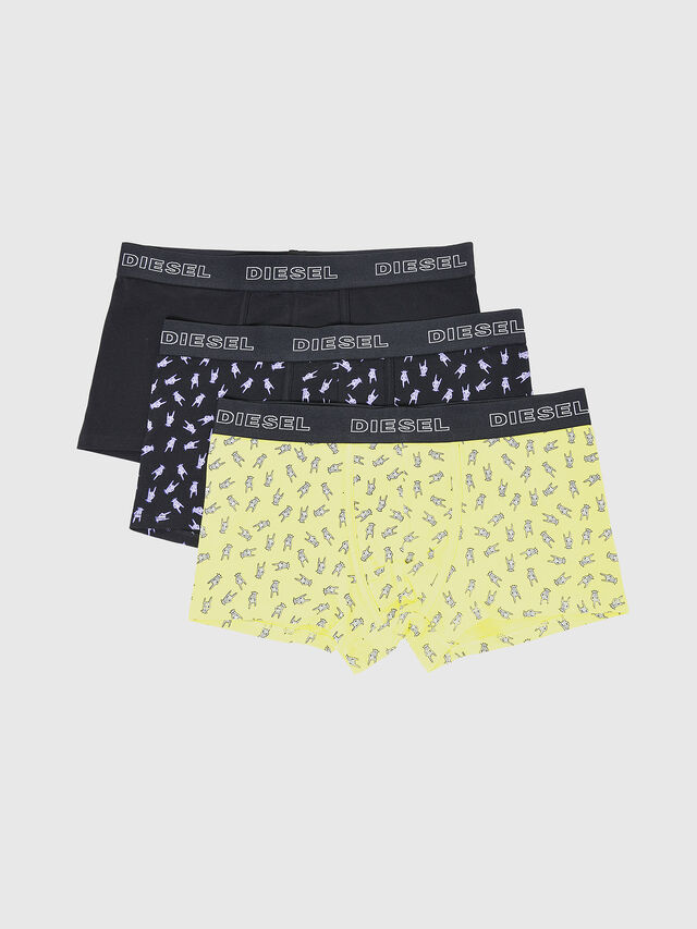 Diesel - UMBX-DAMIENTHREEPACK, Black/Yellow - Trunks - Image 1