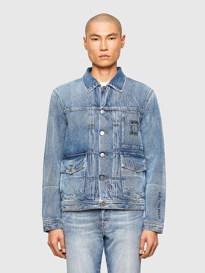 Diesel - CL-D-BIL, Light Blue - Denim Jackets - Image 1