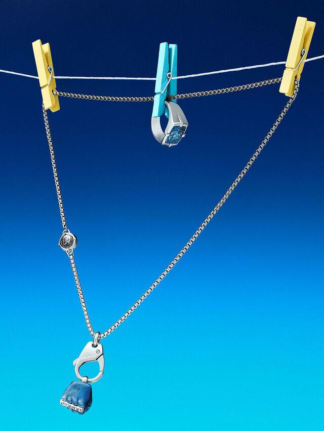 Diesel - DX1178, Silver - Necklaces - Image 3