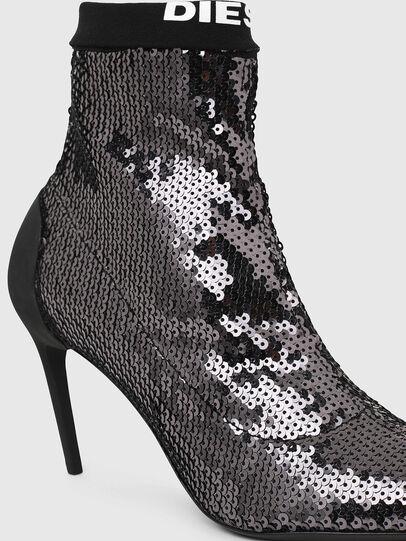 Diesel - D-SLANTY MASM, Black/Silver - Ankle Boots - Image 4