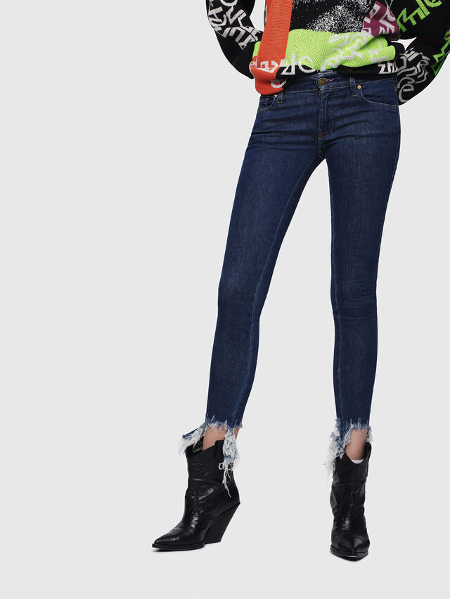 Diesel - Slandy Low 088AT, Dark Blue - Jeans - Image 1