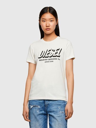 Diesel - T-SILY-R4, White - T-Shirts - Image 1