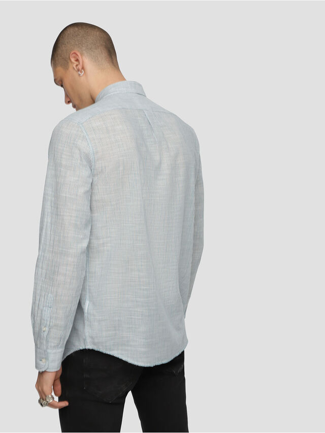 Diesel - S-STRYPED-NEW, Blue/White - Shirts - Image 2
