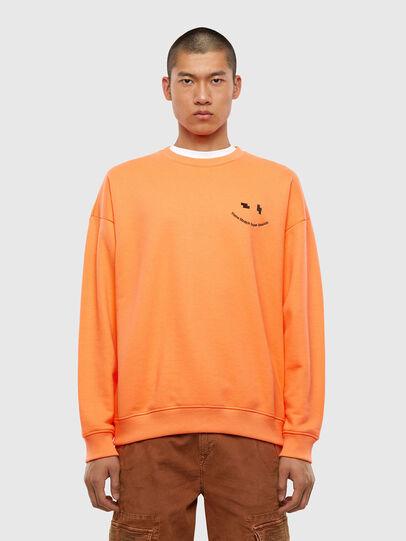 Diesel - S-MART-FLU, Orange - Sweaters - Image 1