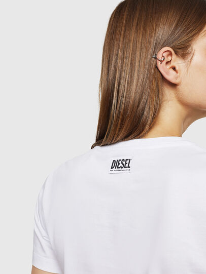 Diesel - T-SILY-WK, White - T-Shirts - Image 4
