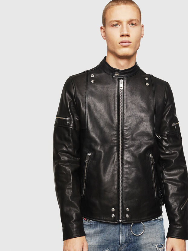 L-TOVMAS, Black - Leather jackets