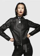 L-SUZ, Black Leather - Leather jackets