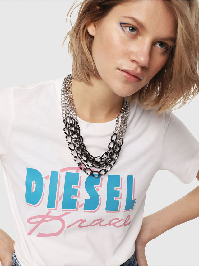 Diesel - T-SILY-C2, White - T-Shirts - Image 3