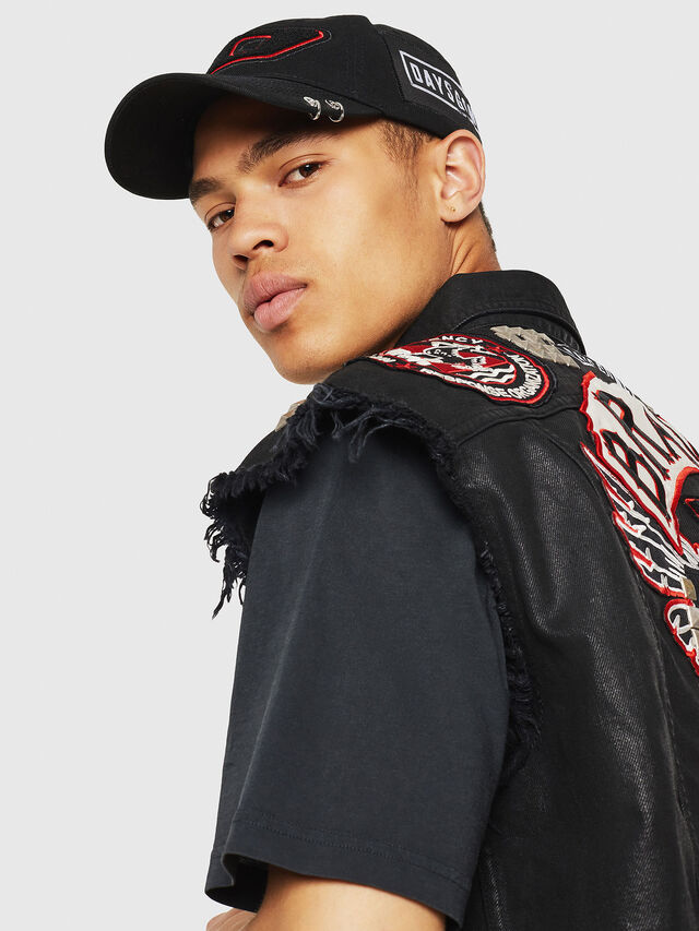 Diesel - PS-D-VINNY, Black - Denim Jackets - Image 3