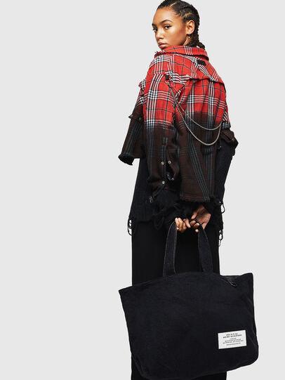 Diesel - D-THISBAG SHOPPER L, Black - Shopping and Shoulder Bags - Image 7
