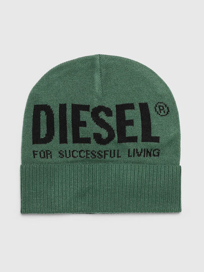 Diesel - K-BECKY-B, Dark Green - Knit caps - Image 1