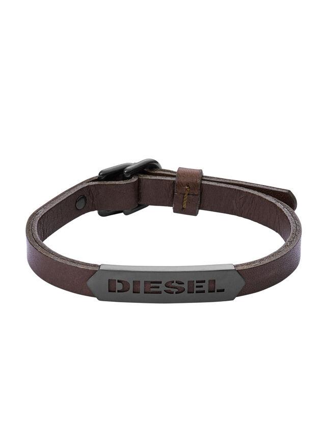 Diesel - BRACELET DX1001, Brown - Bracelets - Image 1