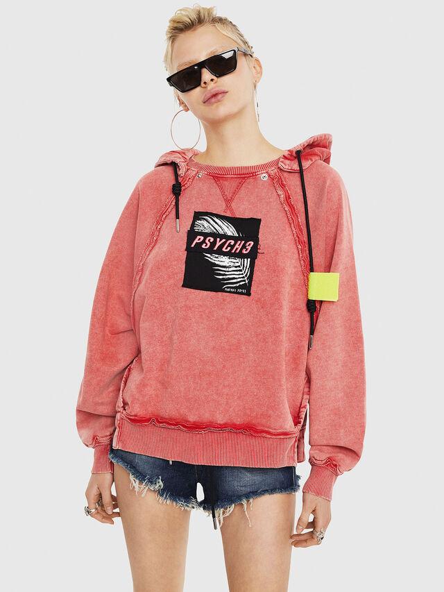 Diesel - F-CAROL, Light Red - Sweaters - Image 1